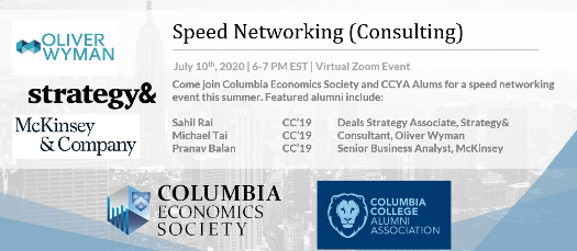 CCYA x CES: Consulting Speed Networking
