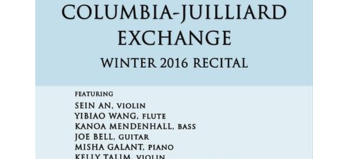 Columbia Juilliard Exchange Fall Recital