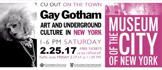 LGBTQ@ Columbia's CU OUT on the Town: Gay Gotham at the Museum of the City of New York