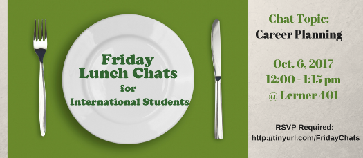 Friday Lunch Chat for Int'l  Students (Topic: Career Planning)