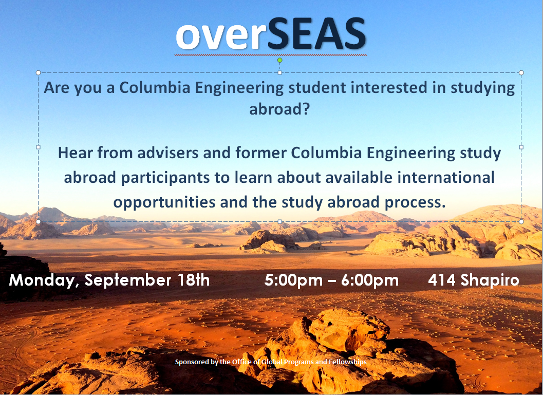 OverSEAS: Columbia Engineering Abroad