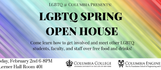 LGBTQ @ Columbia Spring Open House