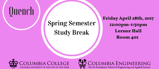 LGBTQ @ Columbia Presents: Quench - Spring Semester Study Break
