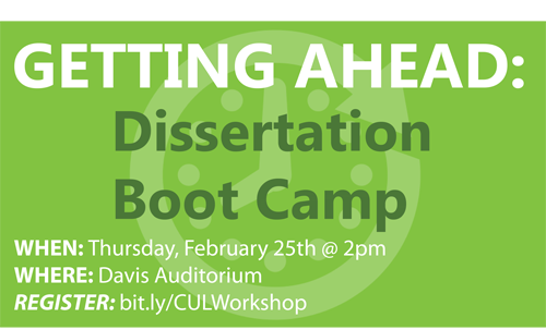 Columbia university dissertation boot camp