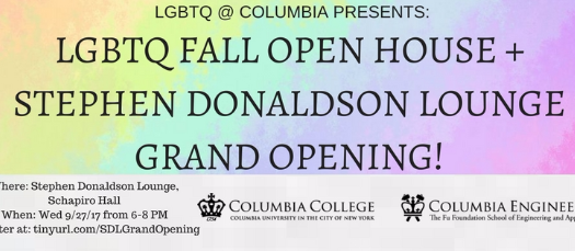 LGBTQ Fall Open House and Stephen Donaldson Lounge Grand Opening